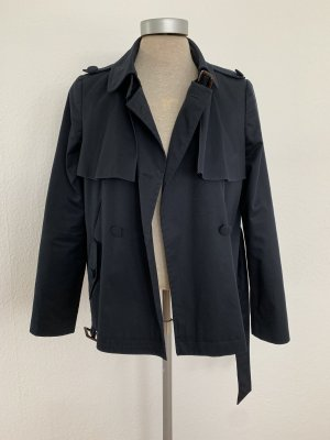 Topshop Pea Jacket dark blue