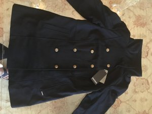 Bruno Banani Heavy Pea Coat dark blue mixture fibre