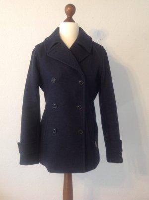 Pea Jacket dark blue wool
