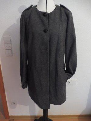H&M Veste de pilote gris foncé-noir laine