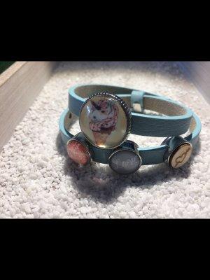 Cabochon (Kunst)Leder Armband