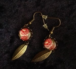Cabochon Ohrringe handmade