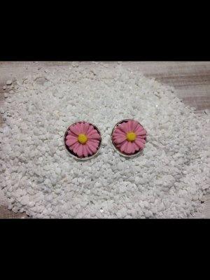 "Cabochon ohrstecker ""Blume"""