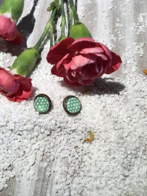 """Cabochon ohrstecker """"Punkte"""""""