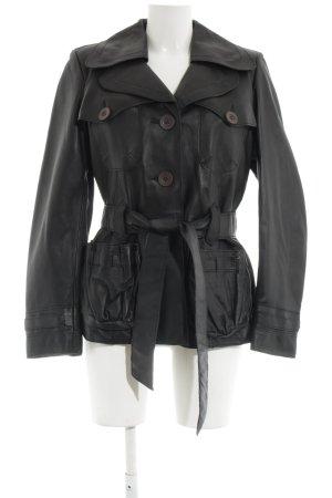 Cabrini Leather Jacket black casual look