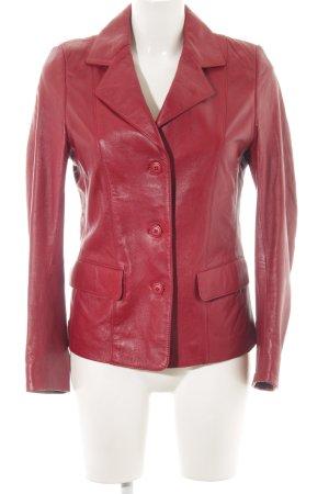 """Cabrini Leather Jacket """"Cabrini Lederjacke"""" dark red"""