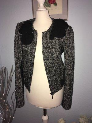Giacca di lana nero-bianco