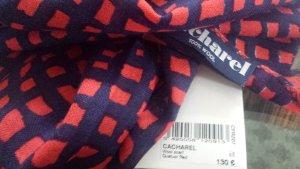 Cacharel Bufanda de lana rojo-azul oscuro Lana