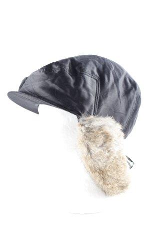 Cacharel Flatcap schwarz-hellbraun extravaganter Stil