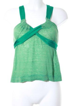 Cacharel Trägertop grasgrün-kadettblau Casual-Look