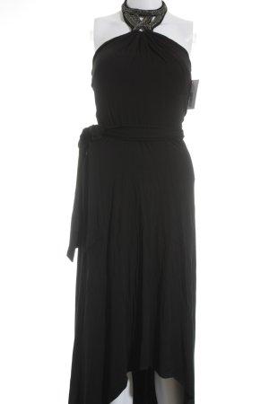 caché Vestido de noche negro-color plata elegante