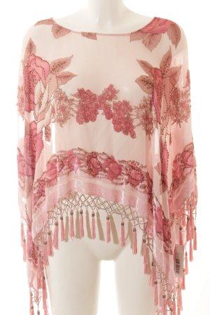 caché Poncho altrosa-rosa florales Muster Gypsy-Look