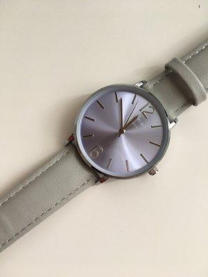 Cachet London Armbanduhr grau Silber
