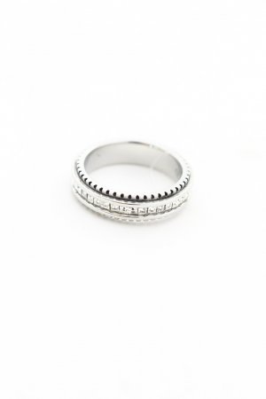 Cadenzza Silberring silberfarben klassischer Stil