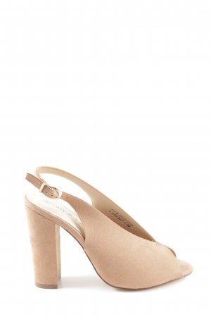 Cafe Moda Slingback pumps nude-lichtbruin casual uitstraling