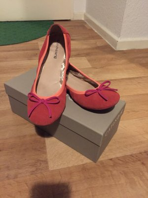 Café Noir Ballerines Mary Jane rouge brique-orange