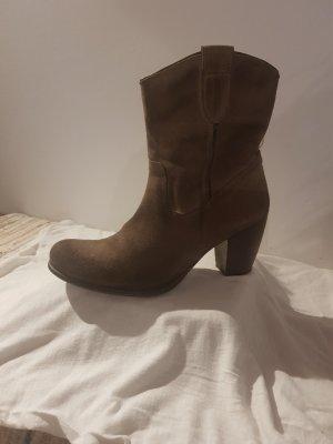 Cafènoir Booties light brown-brown leather