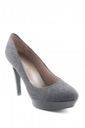 Café Noir High Heels anthrazit-schwarz Business-Look