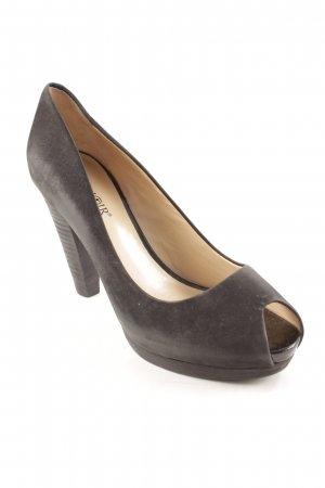 Café Noir Peeptoe Pumps schwarz Business-Look