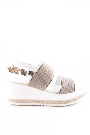 Café Noir Wedge Sandals abstract pattern casual look