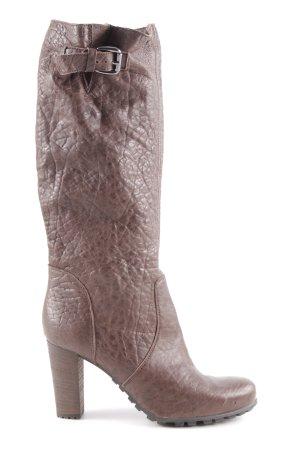Cafènoir Heel Boots dark brown casual look