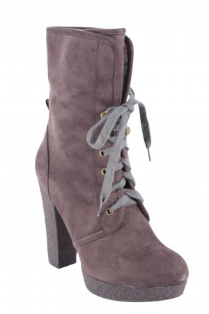 Cafènoir Heel Boots grey brown-dark green military look