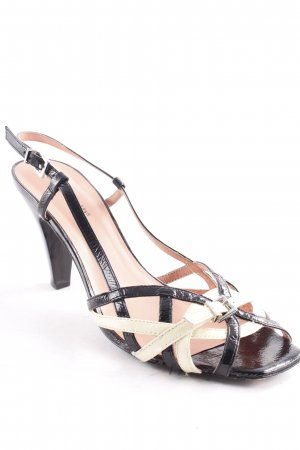 Cafènoir High Heel Sandal black-pale yellow elegant
