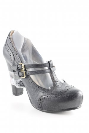 Cafènoir High Heels anthracite-black elegant