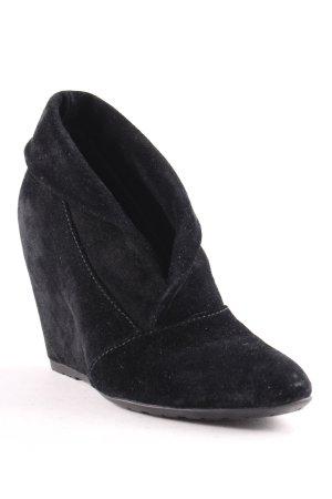 Cafènoir Keil-Stiefeletten schwarz schlichter Stil