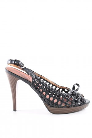 Cafènoir Peep Toe Pumps black-brown casual look
