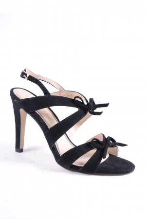 Cafènoir Strapped High-Heeled Sandals black elegant
