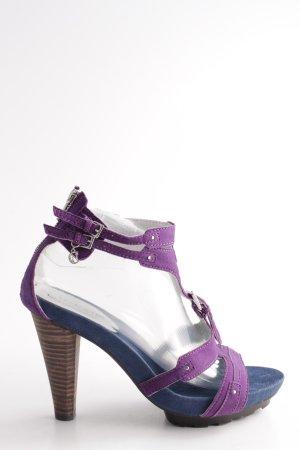Cafènoir Strapped pumps lilac-blue casual look