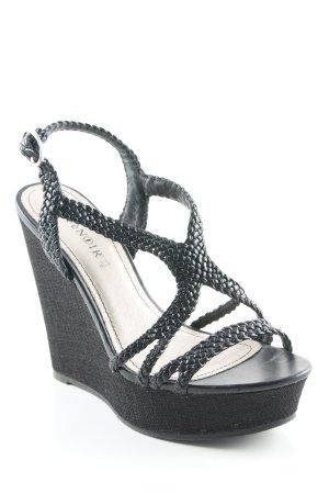 Cafènoir Wedges Sandaletten schwarz Casual-Look