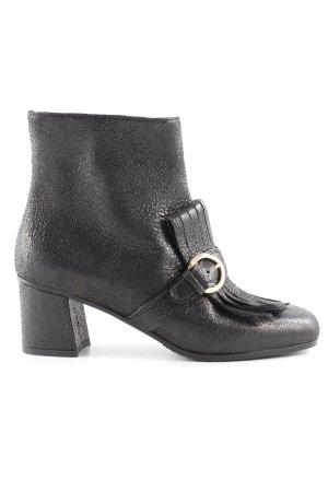 Caiman Reißverschluss-Stiefeletten schwarz extravaganter Stil