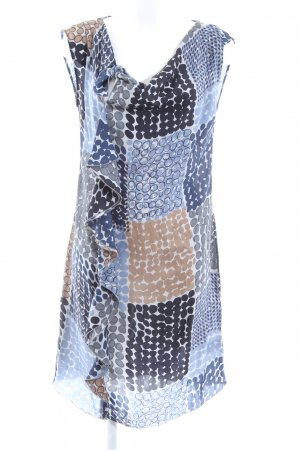 Caliban Blouse Dress blue-white abstract pattern business style