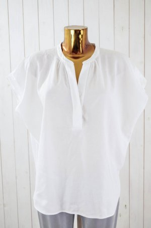 CALIBAN Damen Bluse Blusentop Baumwolle Weiß Piquée-Muster Gr. ital.44/ dt.38
