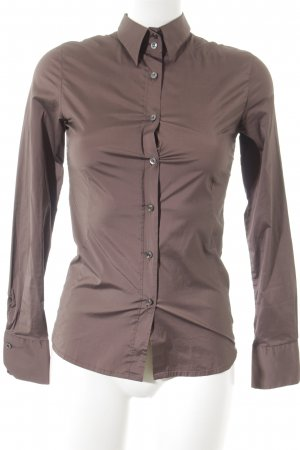 Caliban Hemd-Bluse braun Business-Look