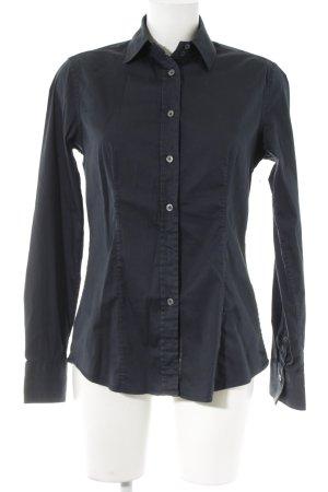 Caliban Hemd-Bluse dunkelblau-dunkelgrün Punktemuster Business-Look