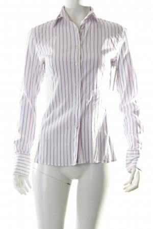 Caliban Shirt Blouse white-lilac striped pattern classic style