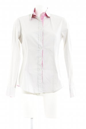 Caliban Long Sleeve Blouse light grey-pink classic style