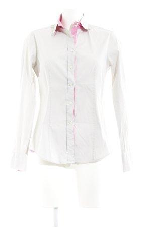 Caliban Langarm-Bluse hellgrau-rosa klassischer Stil