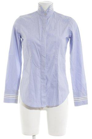 Caliban Langarmhemd blau Streifenmuster Business-Look