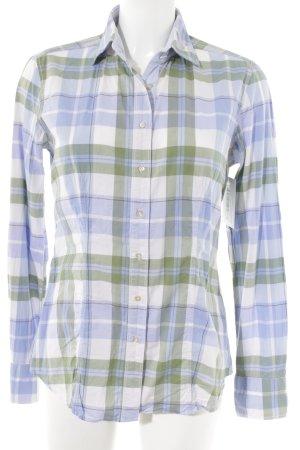 Caliban Shirt met lange mouwen geruite print Jaren 80 stijl
