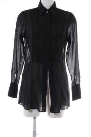 Caliban Langarmhemd schwarz schlichter Stil