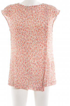 Caliban Long-Bluse pink-rot abstraktes Muster Elegant