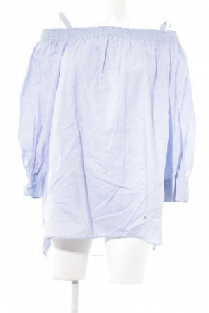 Caliban Slip-over Blouse azure-pale blue abstract pattern casual look
