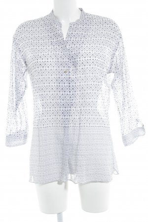Caliban Tuniekblouse wit-donkerpaars abstract patroon Beach-look