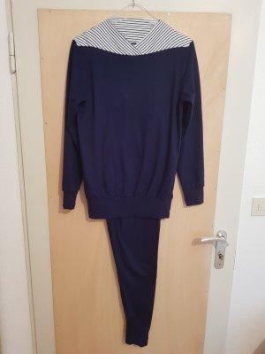 Calida Pyjama Schlafanzug Marineblau Blau Größe S