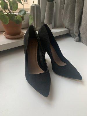 Pointed Toe Pumps black imitation leather