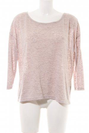 Calliope Boatneck Shirt nude flecked casual look